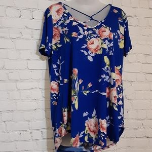 Twenty Ten Blue Floral Top